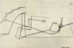 Wassily Kandinksy Linear analysis still life, Cours de dessin analytique, 1922-1923