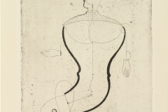 Oskar Schlemmer, Abstract Figure Facing Left: Figure S, Master Portfolio, 1923