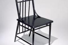 Chaise en acajou ébénisé,  1880-1883