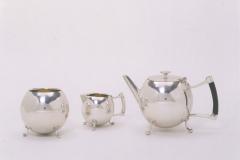 Service à thé, nickel argent galvanisé, 1880