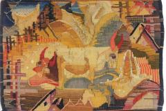 Cows in landscape, première tenture murale, 1920